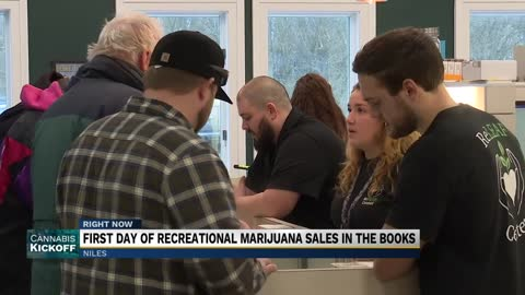 First day of recreational marijuana sales in Niles totaling more...